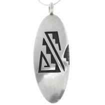 Hopi Geometric Design Silver Pendant 39708
