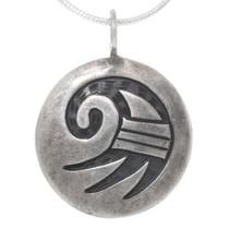 Vintage Hopi Silver Rainbird Pendant 39710