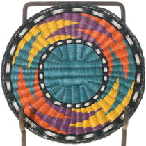 Vintage Third Mesa Hopi Wicker Tray Basket 39716