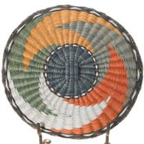 Vintage Hopi Polychrome Whirl Design Basket Tray 39717