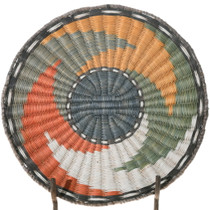 Third Mesa Hopi Wicker Tray Whirl Basket 39717