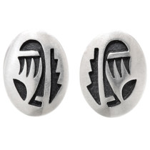 Vintage Hopi Sterling Silver Earrings 39723