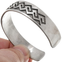 Hopi Wave Pattern Old Pawn Silver Bracelet 39725