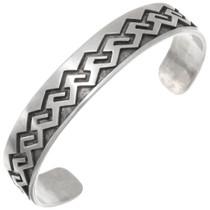 Vintage Hopi Sterling Silver Cuff Bracelet 39725