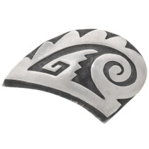Hopi Sterling Silver Brooch Pin 39732