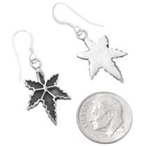 Antiqued Silver 420 Marijuana Leaf Earrings 39733