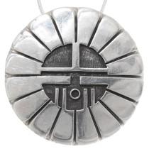 Vintage Hopi Silver Sunface Pendant 39738