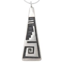 Native American Hopi Silver Pendant 39740
