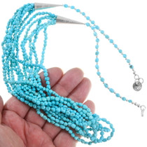Natural Turquoise Beaded Necklace 39752