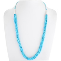 Navajo Natural Sleeping Beauty Turquoise Necklace 39752