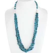 Natural Kingman Turquoise Nugget Necklace 39755