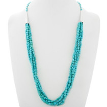 Navajo Natural Turquoise Five Strand Necklace 39756