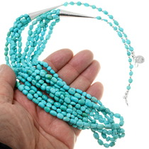 Natural Sleeping Beauty Turquoise Bead Necklace 39756