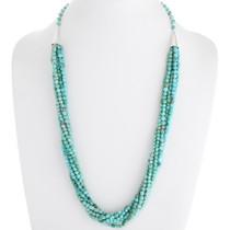 Navajo Natural Turquoise Seven Strand Necklace 39760