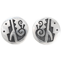 Old Pawn Hopi Silver Earrings 39766
