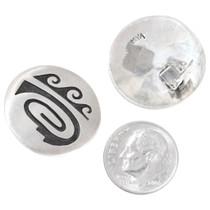 Hopi Symbols Silver Overlay Earrings 39768