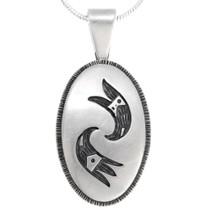 Vintage Hopi Silver Pendant 39770