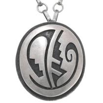 Vintage Hopi Silver Pendant Necklace 39782