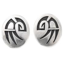 Vintage Hopi Symbol Sterling Silver Earrings 39786
