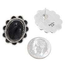 Navajo Made Black Onyx Earrings 39792