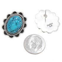 Sterling Silver Navajo Turquoise Earrings 39793