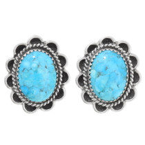 Navajo Blue Turquoise Earrings 39794