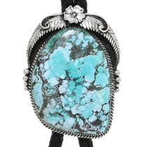 Navajo Spiderweb Turquoise Bolo Tie 39797