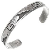 Vintage Hopi Silver Rain Clouds Bracelet 39806