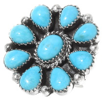 Navajo Sky Blue Turquoise Ring 39809