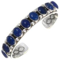 Navajo Sterling Silver Lapis Bracelet 39814