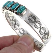 Vintage Carico Lake Turquoise Sterling Silver Bracelet 39815