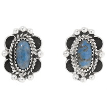 Denim Lapis Navajo Earrings 39819