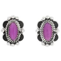 Navajo Purple Onyx Post Earrings 39820