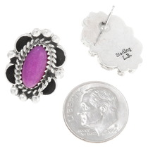 Sterling Silver Navajo Earrings Artist Signed 39820