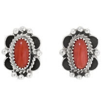 Navajo Coral Earrings 39821