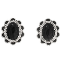 Black Onyx Sterling Silver Earrings 39822