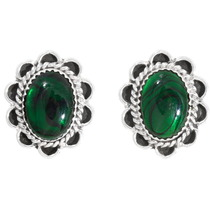 Navajo Green Paua Shell Earrings 39823