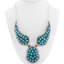 Navajo Sleeping Beauty Turquoise Necklace 39826