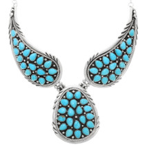 Arizona Turquoise Navajo Necklace 39826