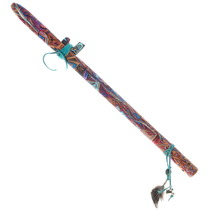 Hand Painted Hopi Wood Flute Display Art 39828