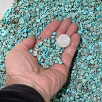 Aqua Blue Green Turquoise Chips for Inlay 37096