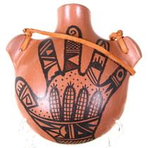 Vintage Hopi Handprint Canteen Pottery 39832