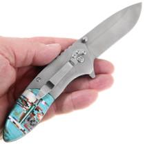 Southwest Belt Clip Turquoise Pocket Knife 39841