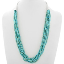 Kingman Turquoise Ten Strand Navajo Necklace 39849