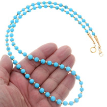 Native American Natural Turquoise Beaded Necklace 39851