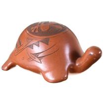 Vintage Navajo Etched Turtle Pottery 39857