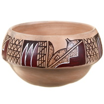 Native American Hand Made Polychrome Pottery 39861