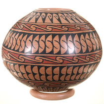 Detailed Hand Painted Geometric Design Mata Ortiz Pot 39862