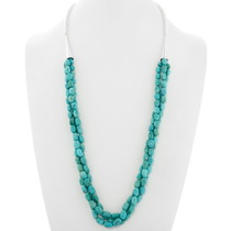 Natural Green Turquoise Beaded Necklace 39866