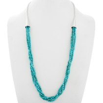 Turquoise Native American Four Strand Bead Necklace 39867
